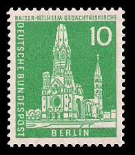 10 Pf Briefmarke: Berliner Bauten