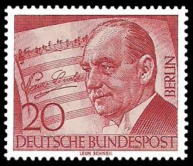 20 Pf Briefmarke: 10. Todestag von Paul Lincke