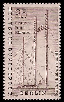 25 Pf Briefmarke: Deutsche Industrieausstellung 1956
