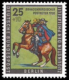 25 + 10 Pf Briefmarke: Tag der Briefmarke