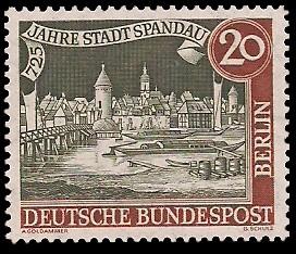 20 Pf Briefmarke: 725 Jahre Stadt Spandau