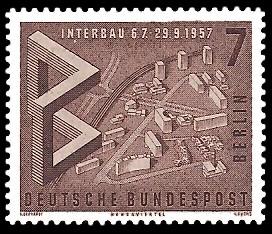 7 Pf Briefmarke: Interbau
