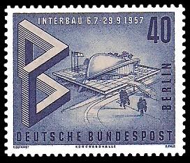 40 Pf Briefmarke: Interbau