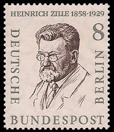 8 Pf Briefmarke: Berühmte Männer Berlins