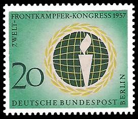 20 Pf Briefmarke: Welt-Frontkämpfer-Kongreß