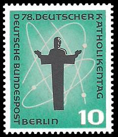 10 Pf Briefmarke: 78. Deutscher Katholikentag