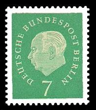 7 Pf Briefmarke: Bundespräsident Theodor Heuss