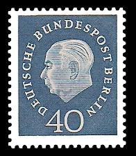 40 Pf Briefmarke: Bundespräsident Theodor Heuss