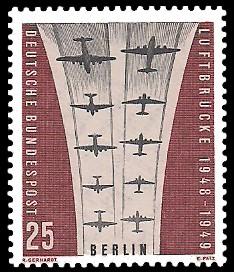 25 Pf Briefmarke: Luftbrücke Berlin