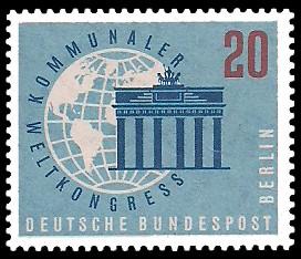 20 Pf Briefmarke: Kommunaler Weltkongreß