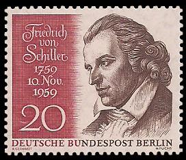 20 Pf Briefmarke: 200. Geburtstag von Friedrich Schiller