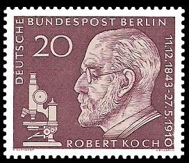20 Pf Briefmarke: 50. Todestag von Robert Koch