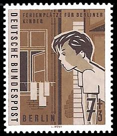 7 + 3 Pf Briefmarke: Ferienplätze für Berliner Kinder