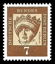 7 Pf Briefmarke: Bedeutende Deutsche