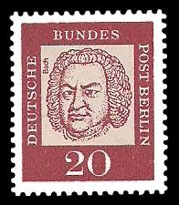 20 Pf Briefmarke: Bedeutende Deutsche