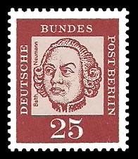 25 Pf Briefmarke: Bedeutende Deutsche
