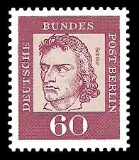 60 Pf Briefmarke: Bedeutende Deutsche