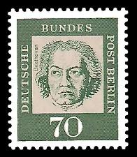 70 Pf Briefmarke: Bedeutende Deutsche