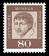 80 Pf Briefmarke: Bedeutende Deutsche