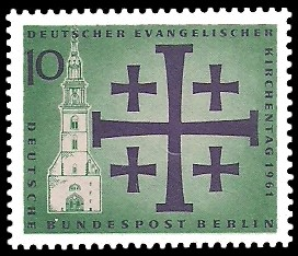 10 Pf Briefmarke: Deutscher Evangelischer Kirchentag