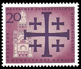 20 Pf Briefmarke: Deutscher Evangelischer Kirchentag