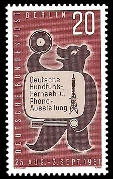 20 Pf Briefmarke: Rundfunk-, Fernseh- u. Phono-Ausstellung