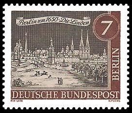 7 Pf Briefmarke: Stadtansicht Alt-Berlin