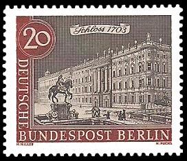 20 Pf Briefmarke: Stadtansicht Alt-Berlin