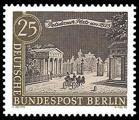 25 Pf Briefmarke: Stadtansicht Alt-Berlin