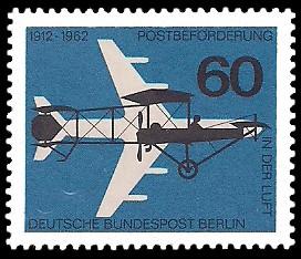 60 Pf Briefmarke: 50 Jahre Luftpost