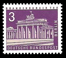 3 Pf Briefmarke: Berliner Bauten