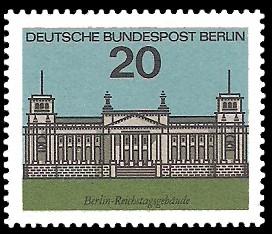 20 Pf Briefmarke: Hauptstadt Berlin