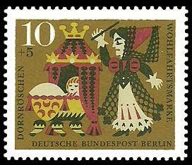 10 + 5 Pf Briefmarke: Wohlfahrtsmarke 1964 Dornröschen