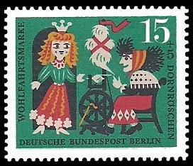 15 + 5 Pf Briefmarke: Wohlfahrtsmarke 1964 Dornröschen