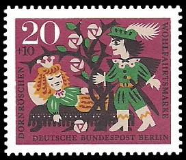 20 + 10 Pf Briefmarke: Wohlfahrtsmarke 1964 Dornröschen