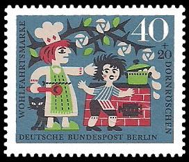 40 + 20 Pf Briefmarke: Wohlfahrtsmarke 1964 Dornröschen
