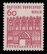 60 Pf Briefmarke: Deutsche Bauwerke