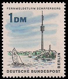 1 DM Briefmarke: Neues Berlin