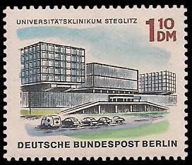 1,10 DM Briefmarke: Neues Berlin