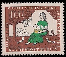 10 + 5 Pf Briefmarke: Wohlfahrtsmarke 1965 Aschenputtel
