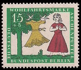 15 + 5 Pf Briefmarke: Wohlfahrtsmarke 1965 Aschenputtel