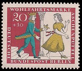 20 + 10 Pf Briefmarke: Wohlfahrtsmarke 1965 Aschenputtel