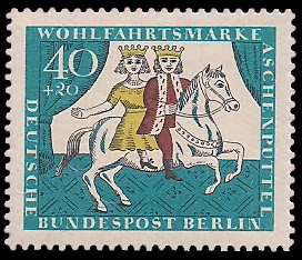 40 + 20 Pf Briefmarke: Wohlfahrtsmarke 1965 Aschenputtel