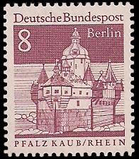 8 Pf Briefmarke: Deutsche Bauwerke