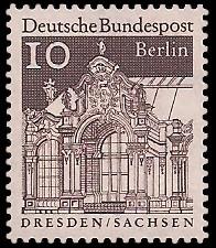 10 Pf Briefmarke: Deutsche Bauwerke