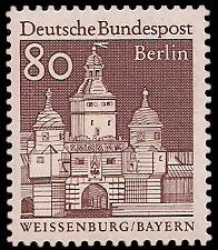 80 Pf Briefmarke: Deutsche Bauwerke