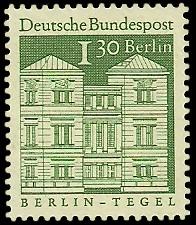 1,30 DM Briefmarke: Deutsche Bauwerke
