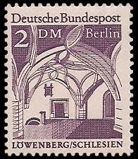 2 DM Briefmarke: Deutsche Bauwerke
