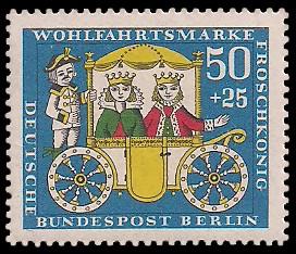 50 + 25 Pf Briefmarke: Wohlfahrtsmarke 1966, Froschkönig