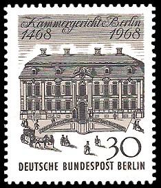 30 Pf Briefmarke: 500 Jahre Kammergericht Berlin